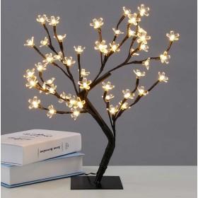 Декоративное дерево со светодиодами 55см 220V Теплый белый свет