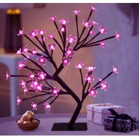 LED-tuledega jõulupuu kirsiõied 55cm 220V Lilla