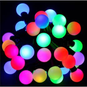 Led outdoor Christmas lights balls 4cm 40Led 12m IP44 RGB