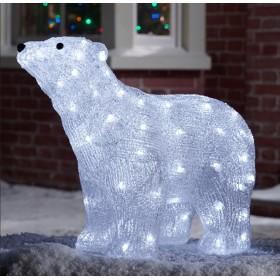 """Светодиодная фигура для улицы """" Полярный медведь"""""""