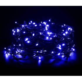 Outdoor Led Christmas lights 200Led 14m IP44 blue with white flickering