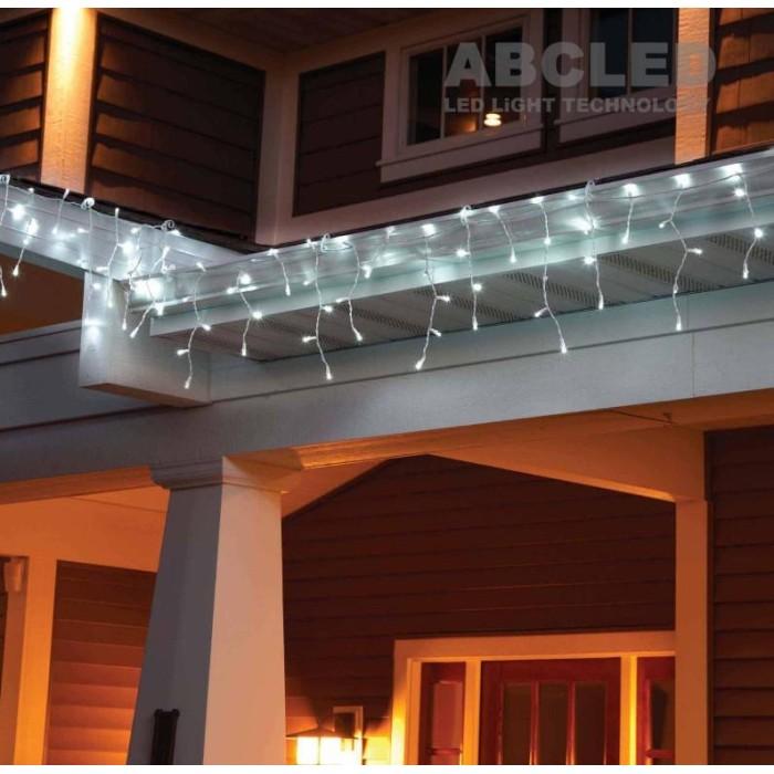 Abcled.ee - LED light icicle 76Led 0,65mx4+1,5m with white cord