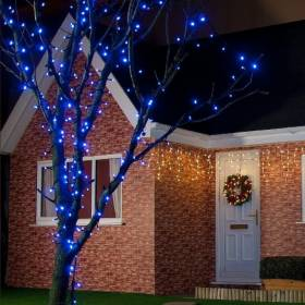 Led outdoor Christmas lights FLASH 1000Ld 8m IP44 Blue