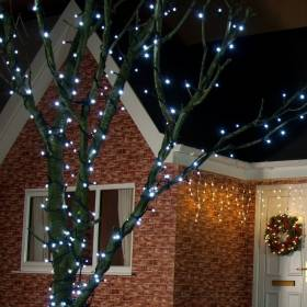 Led outdoor Christmas lights FLASH 100Led 8m IP44 Cold white