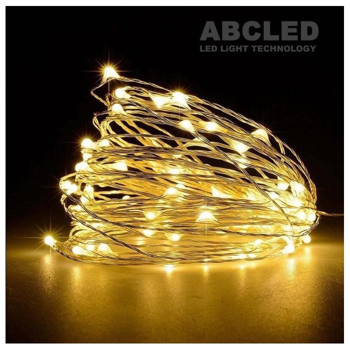 Abcled.ee - Dekoratiivne jõulutuled 100Led 10m patareidega soe