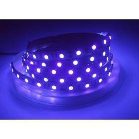 LED Riba UV 5050smd, 60Led/m, 14,4W/m, 400-405nm, IP20, 12V Premium