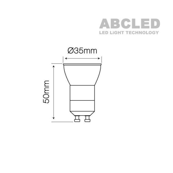 Abcled.ee - Led bulb GU10-GU11 slim 4000K 3W 255lm 38°