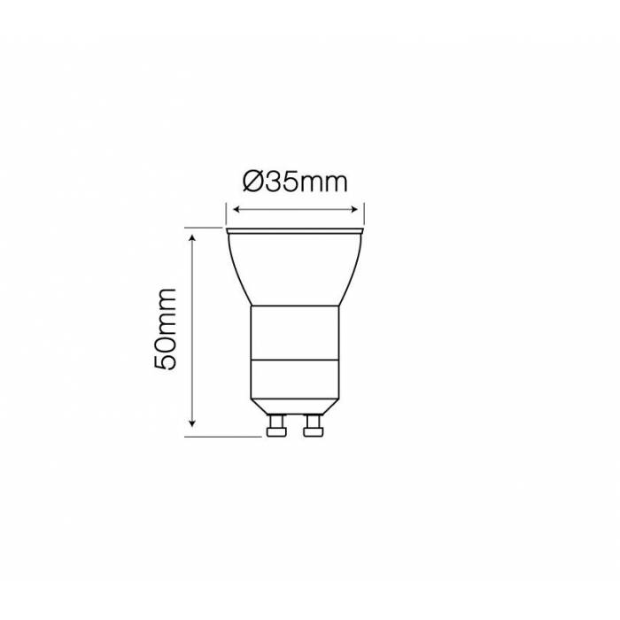 Abcled.ee - Led лампочка GU10-GU11 slim 4000K 3W 255lm 38°